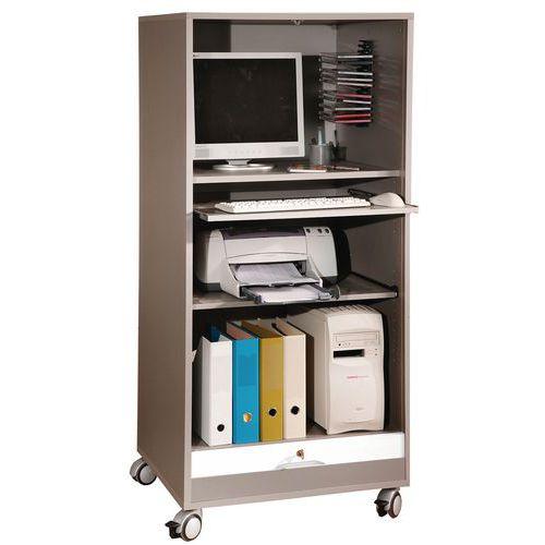 mobiler computerschrank mit rollladen manutan deutschland. Black Bedroom Furniture Sets. Home Design Ideas