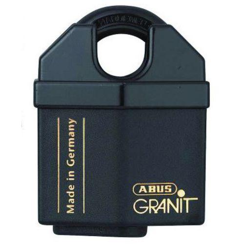 Vorhangschloss Granit mit Bügelschutz Serie 37 - verschiedenschließend - 10 Schlüssel