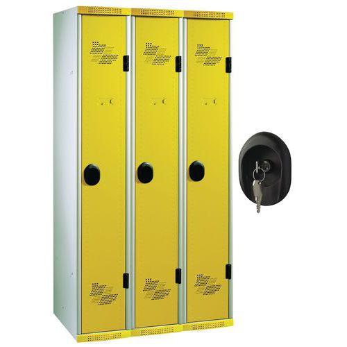 Spind Seamline Optimum® mit 3 Säulen – Säulenbreite 300mm – auf Sockel