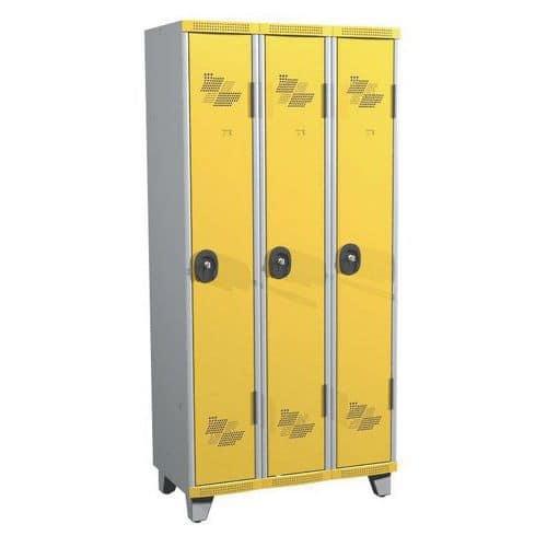 Spind Seamline Optimum® mit 3Säulen- Säulenbreite 300mm- mit Füßen- Acial
