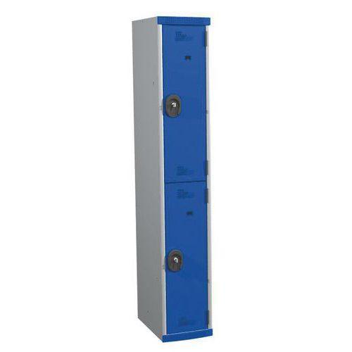 Spind Seamline Optimum® mit 2 Hängefächern- Säulenbreite 300mm- auf Sockel- Acial