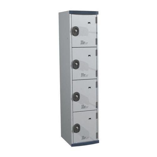 Spind Seamline Optimum® mit 4Fächern- Säulenbreite 400mm- Acial