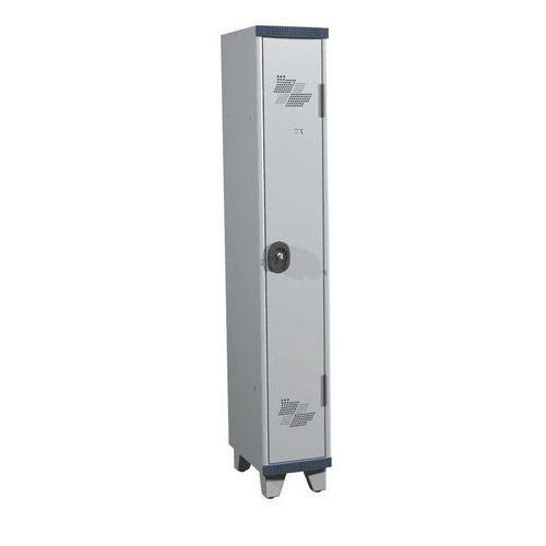 Spind Seamline Optimum® mit 1Säule- Säulenbreite 300mm- mit Füßen- Acial