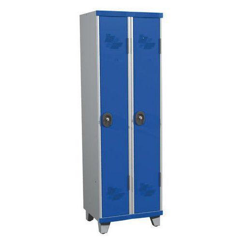 Spind Seamline Optimum® mit 2Säulen- Säulenbreite 300mm- mit Füßen- Acial