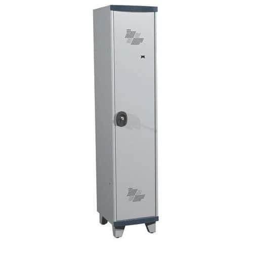 Spind Seamline Optimum® mit 1Säule- Säulenbreite 400mm- mit Füßen- Acial
