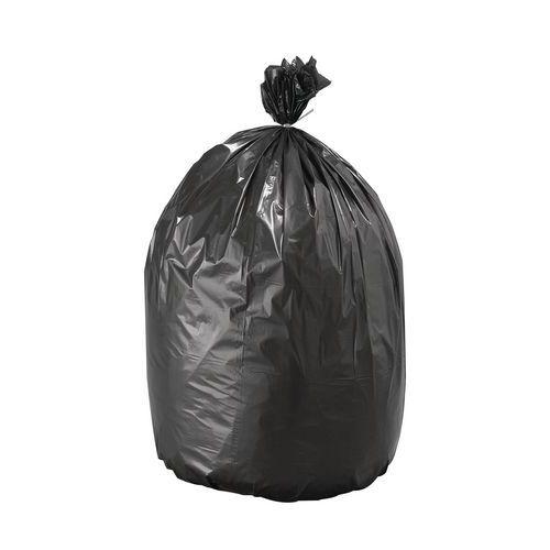 Schwarzer Eco-Müllsack - leichte Abfälle ohne scharfe oder spitz