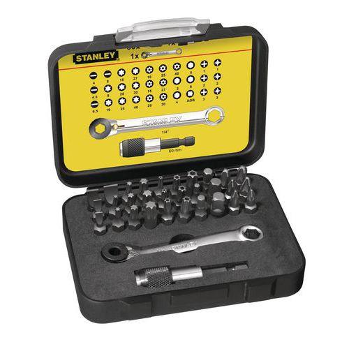 """Koffer mit Schraubeinsätzen 1/4"""" + Mini-Ratsche Fatmax Pro - 32-teilig"""
