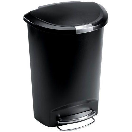 Abfallbehälter mit Fußpedal aus Kunststoff, halbmondförmig- 50L