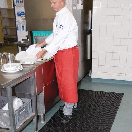 Rutschfeste und beidseitig verwendbare Matte, perforiert für eine gute Wasserabführung- Notrax