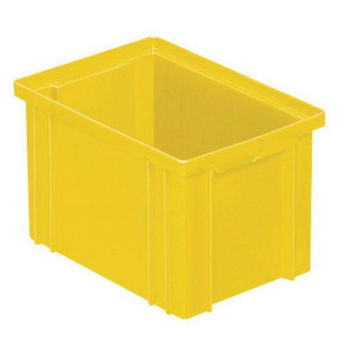 Behälter stapelbar mit spezifischen Abmessungen - Gelb