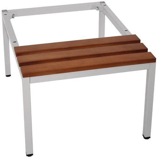 Sitzbank-Untergestell für Spind mit 1 bis 4Säulen- Manutan
