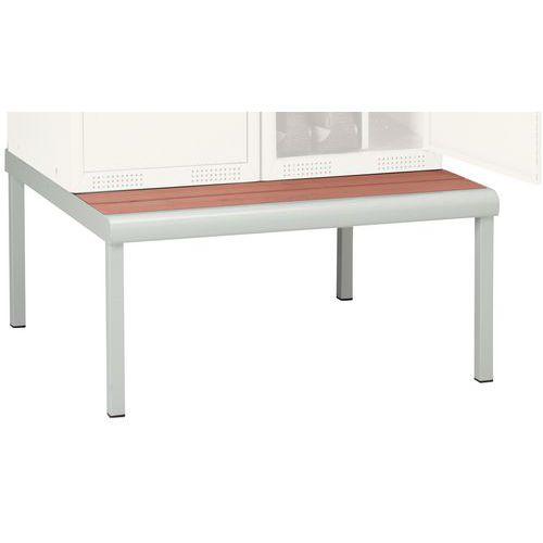 Spind mit Sitzbank-Untergestell Seamline®, saubere Industrie