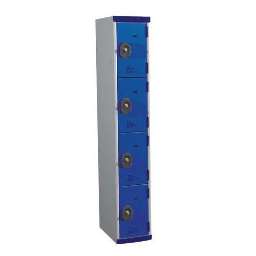 Spind Seamline Optimum® mit 4Fächern- Säulenbreite 300mm- Acial