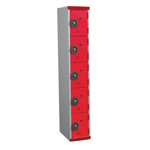 Spind Seamline Optimum® mit 5 Fächern- Säulenbreite 300mm