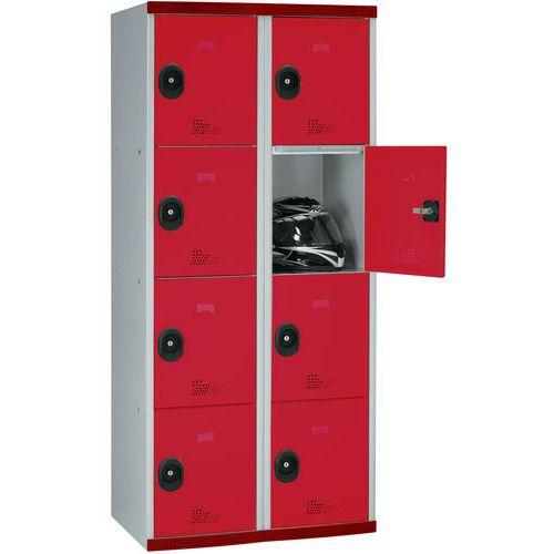 Spind Seamline Optimum® mit 8 Fächern – 2 Säulen, Breite 400mm - mit Sockel