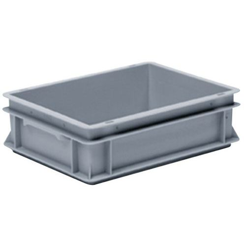 Stapelbarer Euronorm-Behälter grau RAKO- 10 bis 26L