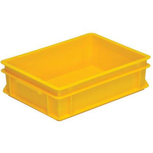 Stapelbarer Euronorm-Behälter gelb RAKO- 10 bis 42L