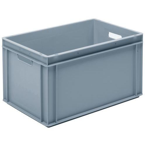 Stapelbarer Euronorm-Behälter grau RAKO- 60L