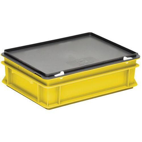 Behälter mit Deckel RAKO gelb- 400x300mm- 10 bis 40L