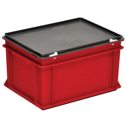 Behälter mit Deckel RAKO rot- 400x300mm- 10 bis 60L