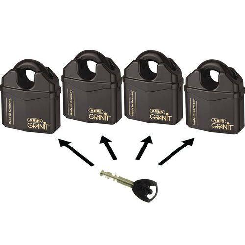 Vorhangschloss Granit mit Bügelschutz Serie 37 - gleichschließend - 2 Schlüssel