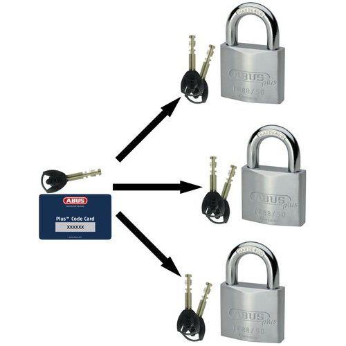 Vorhangschloss Abus Plus Serie 88 - für Hauptschlüssel - 2 Schlüssel