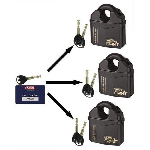 Vorhangschloss Granit mit Bügelschutz Serie 37 - für Hauptschlüssel - 2 Schlüssel