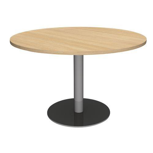 runder tisch mit mittelfu und fasstisch mit 2 mittelf en manutan deutschland. Black Bedroom Furniture Sets. Home Design Ideas