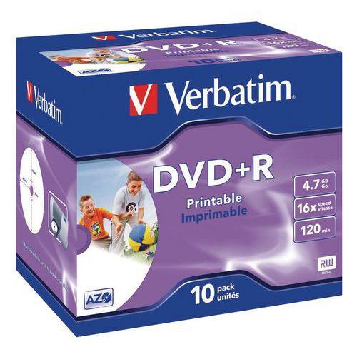 Beschreibbare DVD+R 16x – 10er-Pack Verbatim