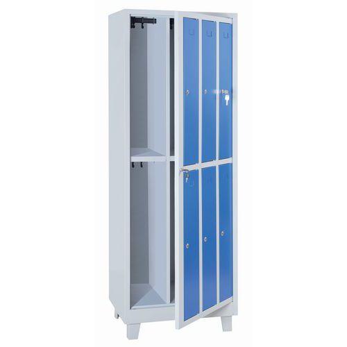 Wäscheschrank für saubere Wäsche- Garderobe- Vorhängeschloss- Manutan