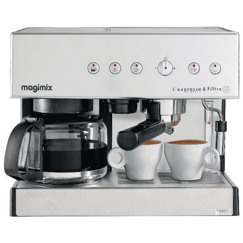 Kombi-Kaffeemaschine Magimixe Espresso und Filterkaffee