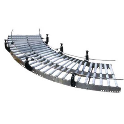 Kurvenelement für Schwerkraftförderer aus Edelstahl mit PVC-Rollen- Somefi