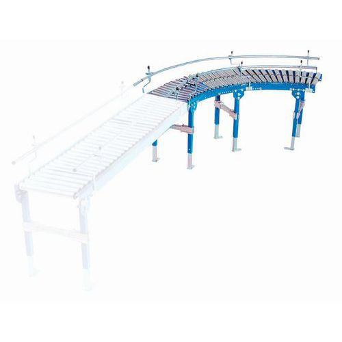 Kurvenelement für Schwerkraftförderer TRS mit PVC-Rollen- Somefi