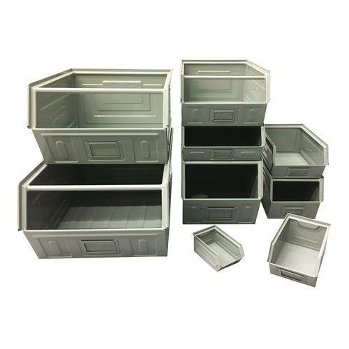 Ablagebox aus Metall - grau lackiertes Modell - Länge 500 bis 700 mm