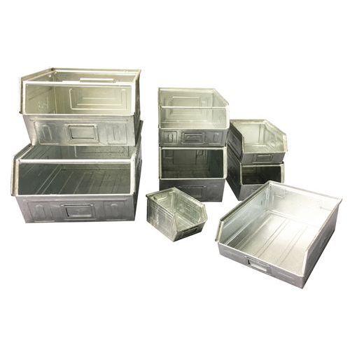 Ablagebox aus Metall - verzinktes Modell - Länge 160 bis 350 mm