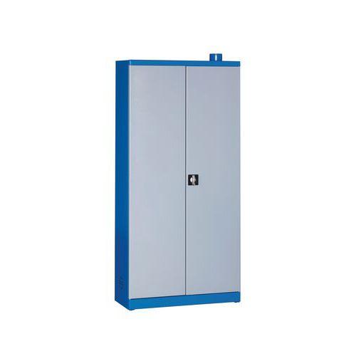 Lagerschrank zur Aufbewahrung von Gefahrstoffen mit 6Auffangfachböden - 72 L