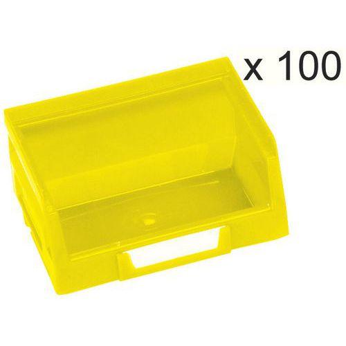 Satz mit 100 Sichtlagerkästen Kangourou-Länge 103mm-0,4L - Manutan