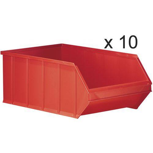 Stapelbare Sichtlagerkästen - Länge 500mm - 30l - 10er-Satz