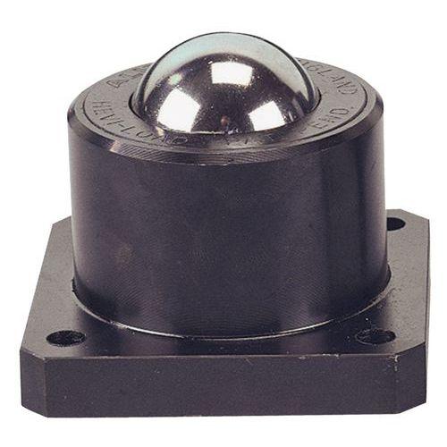 Kugelrolle aus Stahl - Befestigung per Platte und Schraube