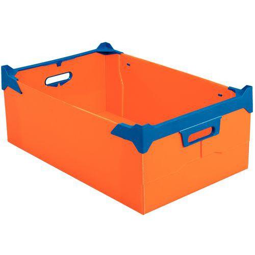 Gitterbox zum Stapeln aus Propylex - Länge 400 bis 600 mm