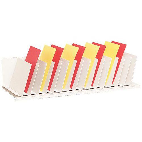 vertikaler sortierer mit schr gen trennw nden f r schr nke. Black Bedroom Furniture Sets. Home Design Ideas