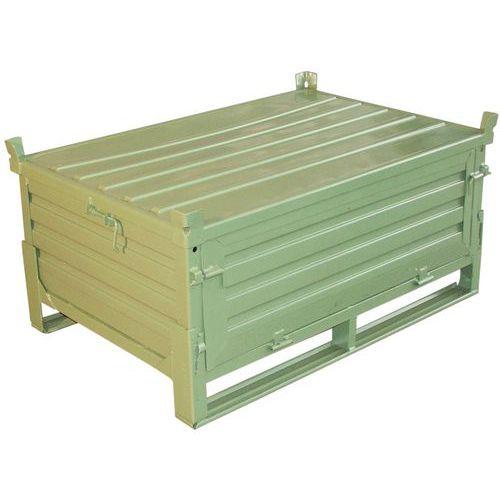 Klappbare Palettenbox- geschlossene Seitenwand- mit Deckel