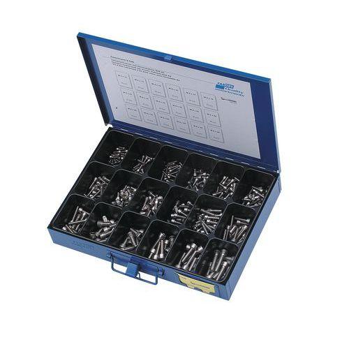 Sortimentskasten Zylinderschrauben mit Innensechskant - 355-teilig