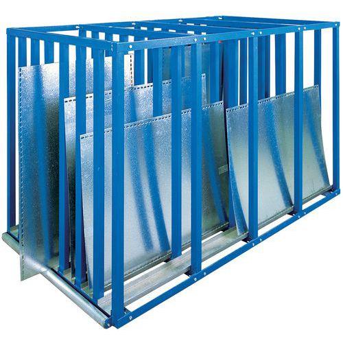 Regal Rayon Bleu für vertikale Plattenlagerung