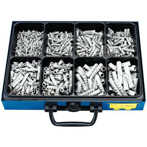 Kasten mit Metalldübeln aus Nylon - 720 Stück