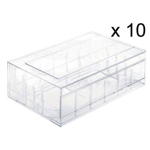 Schubladenblock aus durchsichtigem Polystyrol– pro Set