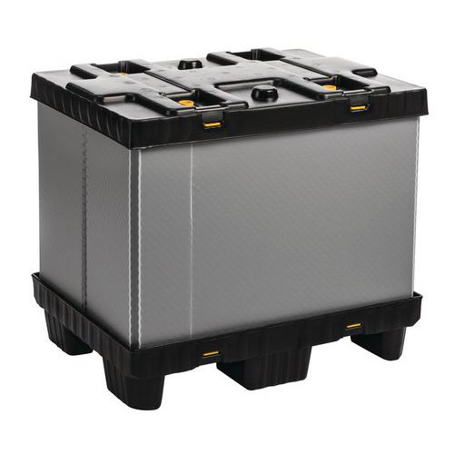 Faltbare Palettenbox Mega Pack - mit fester Seitenwand
