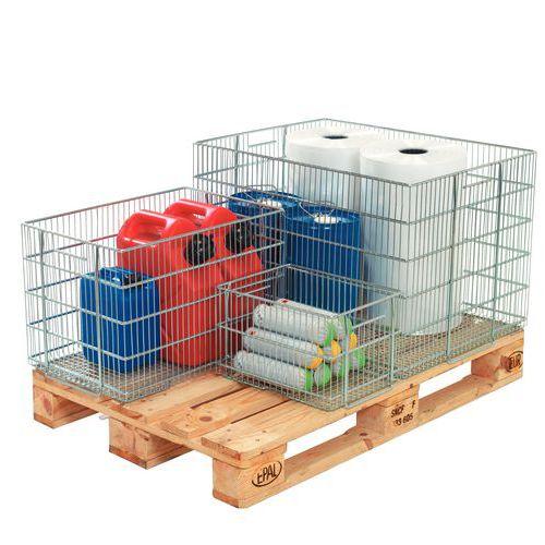 Gitterbox zum Stapeln aus Stahldraht - Länge 600 mm