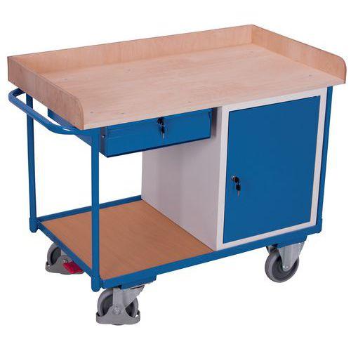 Ergonomischer Holz-Plattenwagen 400kg- Schrankmodul- Schublade