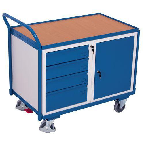 Holz-Plattenwagen- Schrankmodul- Schubladenblock- 250kg